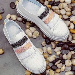 Glittered Tri-Color Rubber Shoes