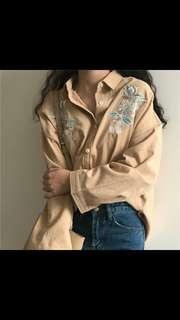 (PO) Korean Ulzzang Embroidery Shirt