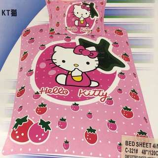 4 in 1 Hello Kitty Character  Bedsheets Set