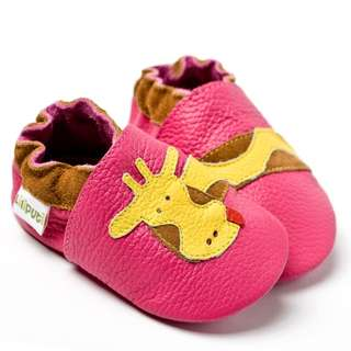 Liliputi® Soft Baby Shoes - Fuchsia Giraffe