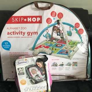 Skip Hop Activity Gym + Snuzzler Summer Head Support