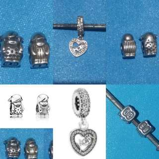Pandora charms inspired silver