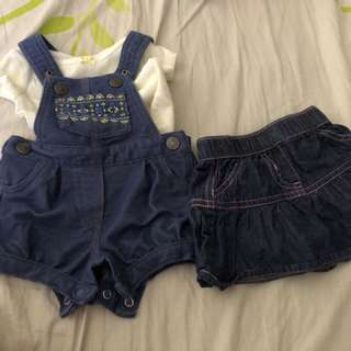 Baby girl outfit and skirt