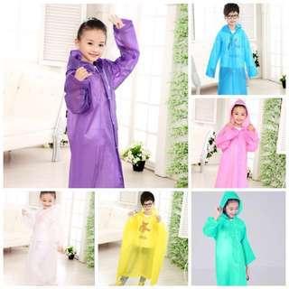 Kids Raincoat Hooded Poncho