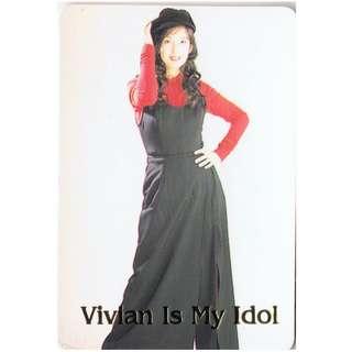 64-U,NO.KM3834,YES CARD,周慧敏,彩照下有金字-VIVIAN IS MY IDOL ,背面曲詞-愛你多年,全購系列-原價6折