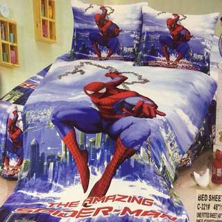 4 in 1 Spiderman Character Bedsheets Set- DOUBLE SIZE ONLY!