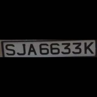 NUMBER PLATE FOR SALE!!