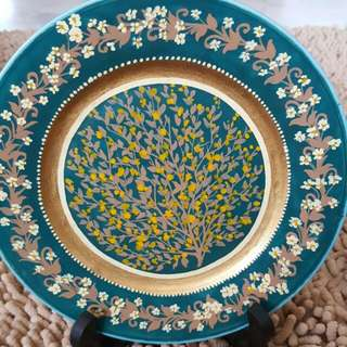 Hand Painted DECO plate
