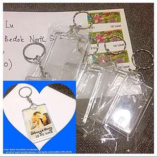 Photo Frame Keychain (sold as blank for DIY) - clear acrylic rectangular version [ do your own customisation personalisation gifts handmade uncle.anthony uncle anthony uac] FOR MORE PICTURES & DETAILS, GO: 👉 http://carousell.com/p/94304321
