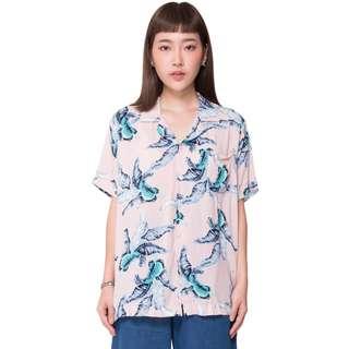 BN ShopJJ Hawaiian Banana Leaf Pink Shirt
