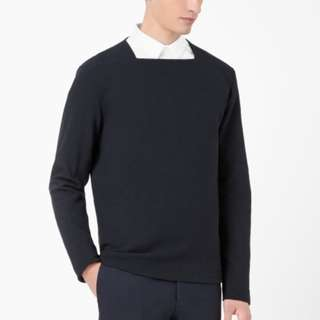 COS Square Neck Top in Navy