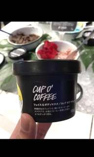 LUSH cup of coffee mask