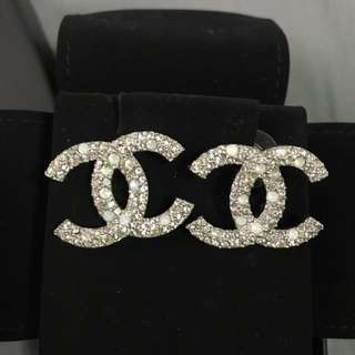 **Reserved** Chanel Earrings - silver with diamanté