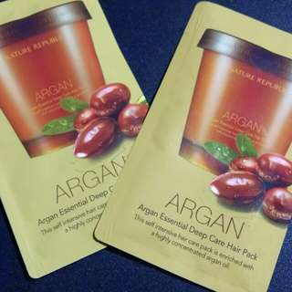 Nature Republic Argan Hair Pack Sampler