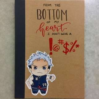 Chibi Notebook (DONT GIVE A !@#$%*; CUSTOMIZABLE)
