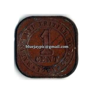 Malaya & British Borneo 1961 1 Cent Coin-00092