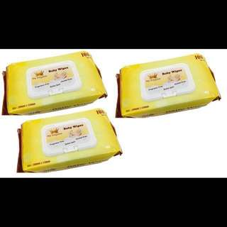 MK Baby Wipes 100's X 3 (Extra Soft and thick)