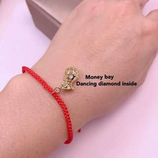 money bag lucky red cord bracelet