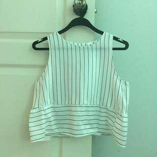 Crop sleeveless top