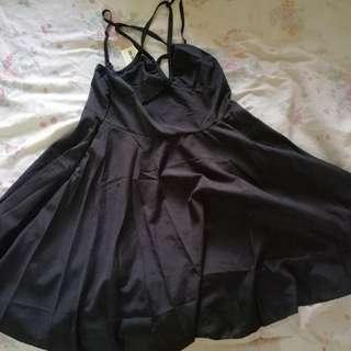 [Brand New] Pentagram/Five-Point Star Black Gothic Dress