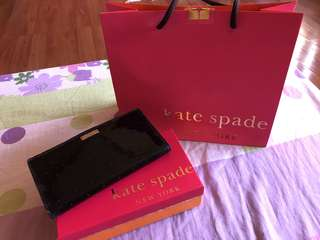 Preowned Authentic Kate Spade Black Patent Wallet