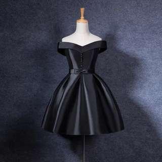Audrey Hepburn inspired black dress/ prom dress