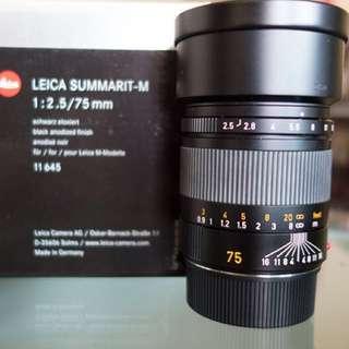 Leica 75mm f2.5 Summarit-M