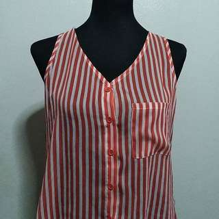PL Forever 21 Orange & White Stripes