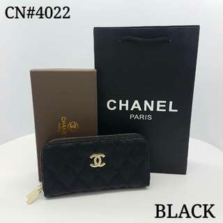 Chanel Double Zippy Wallet Black