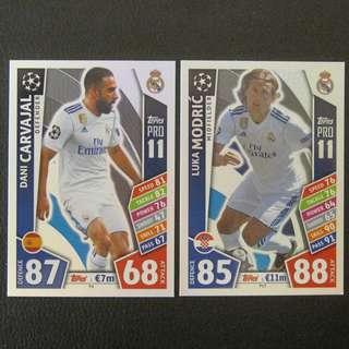 最新 17/18 歐聯 Match Attax Champions PRO11 #Real Madrid 皇馬