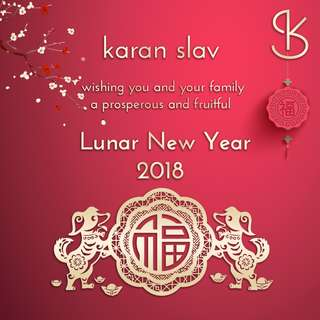 Karan Slav Jewellery wishing you a brand New Lunar Year 2018