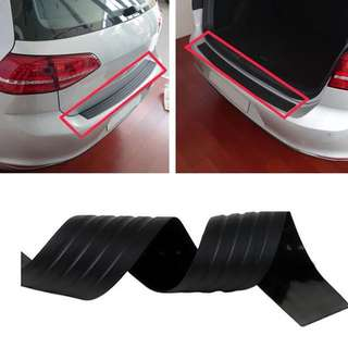 Car Styling Universal Trunk Boot Door Seal Elastic Guard Car Body Rear Bumper Protector Trim Cover Sticker Rubber Strip Shock Absorption MPV[BLACK COLOR]
