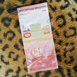 Old RM10 note by Gabenor Tan Sri Ali Abul Hassan