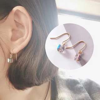 Crystal iridescent earrings