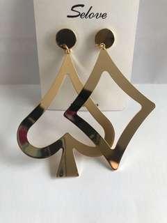Cards earrings