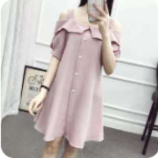 BN Pink off shoulder dress