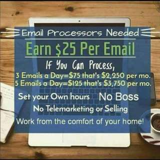 EMAIL PROCESSING NEEDED! SIMPLY WORK FROM HOME