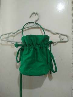 Emerald green formal pouch bag