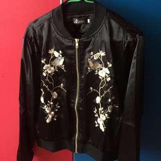 Embroided Bomber Jacket