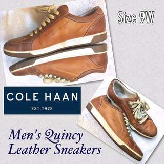 (REPRICED) Authentic ColeHaan Quincy (Preloved/Used) Men's Leather Sneakers (9W)