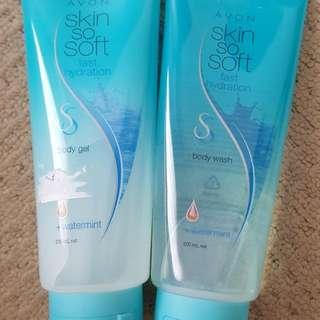 AVON Skin So Soft Body Gel And Body Wash 200ml