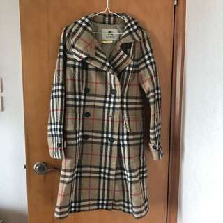 (Finally deduction) Burberry vintage check lambswool coat