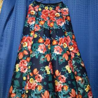 FOR RENT: Formal Floral Long Skirt
