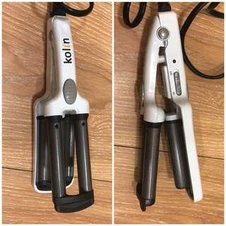 Kolin 輕巧型三管電髮棒捲燙髮夾 KHR-HC01(玉米鬚)