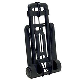 Black luggage roller trolley