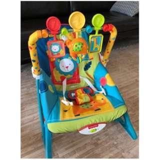 Fisher price bouncer 搖椅 彈彈椅 安撫椅 多功能躺椅