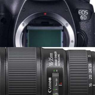 Canon Eos 6d with 16-35mm f4 lens