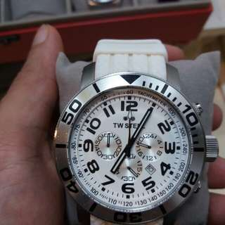 TW steel white chronograph