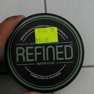 Refined matte hair clay