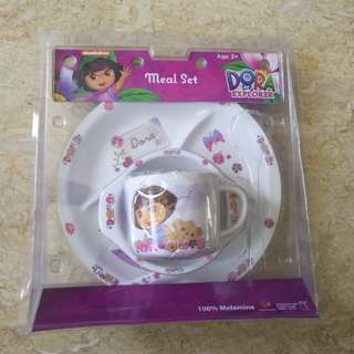 [New] Dora explorer 4 pieces meal set